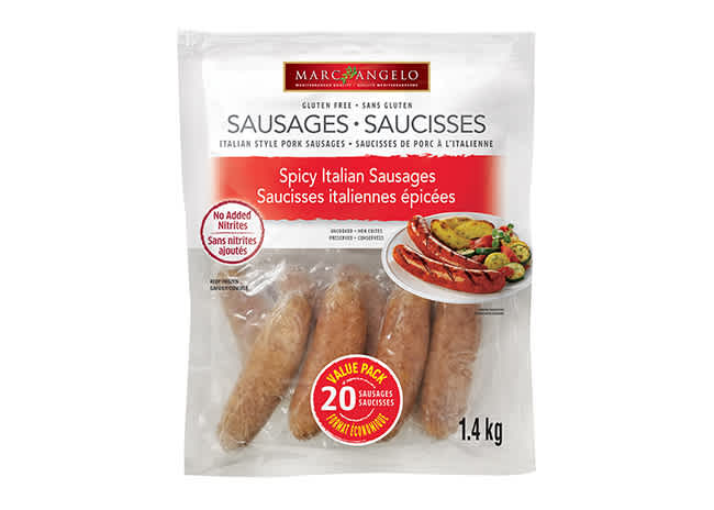 Packaging Spicy Italian Sausages Frozen VP