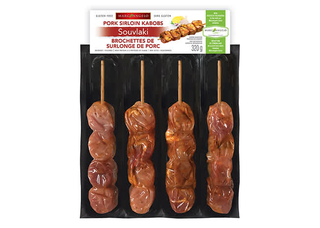 Kabobs Pork Souvlaki Packaging