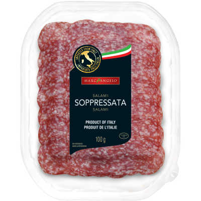 Staged photo of Soppressata in its package