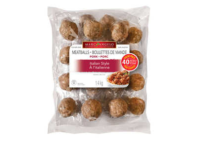 Packaging Frozen Italian Style Pork Meatballs VP