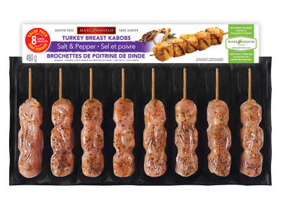 Turkey Salt & Pepper Kabob Value Pack Packaging
