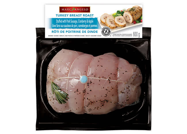 Marcangelo Stuffed Turkey Breast Roast with Pork Sausage, Apple, Cranberry Pkg