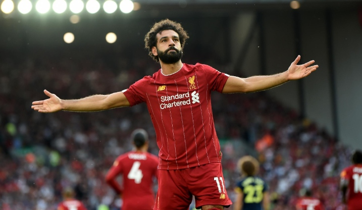 Mo Salah celebrating a goal in the Premier League game in gameweek 3