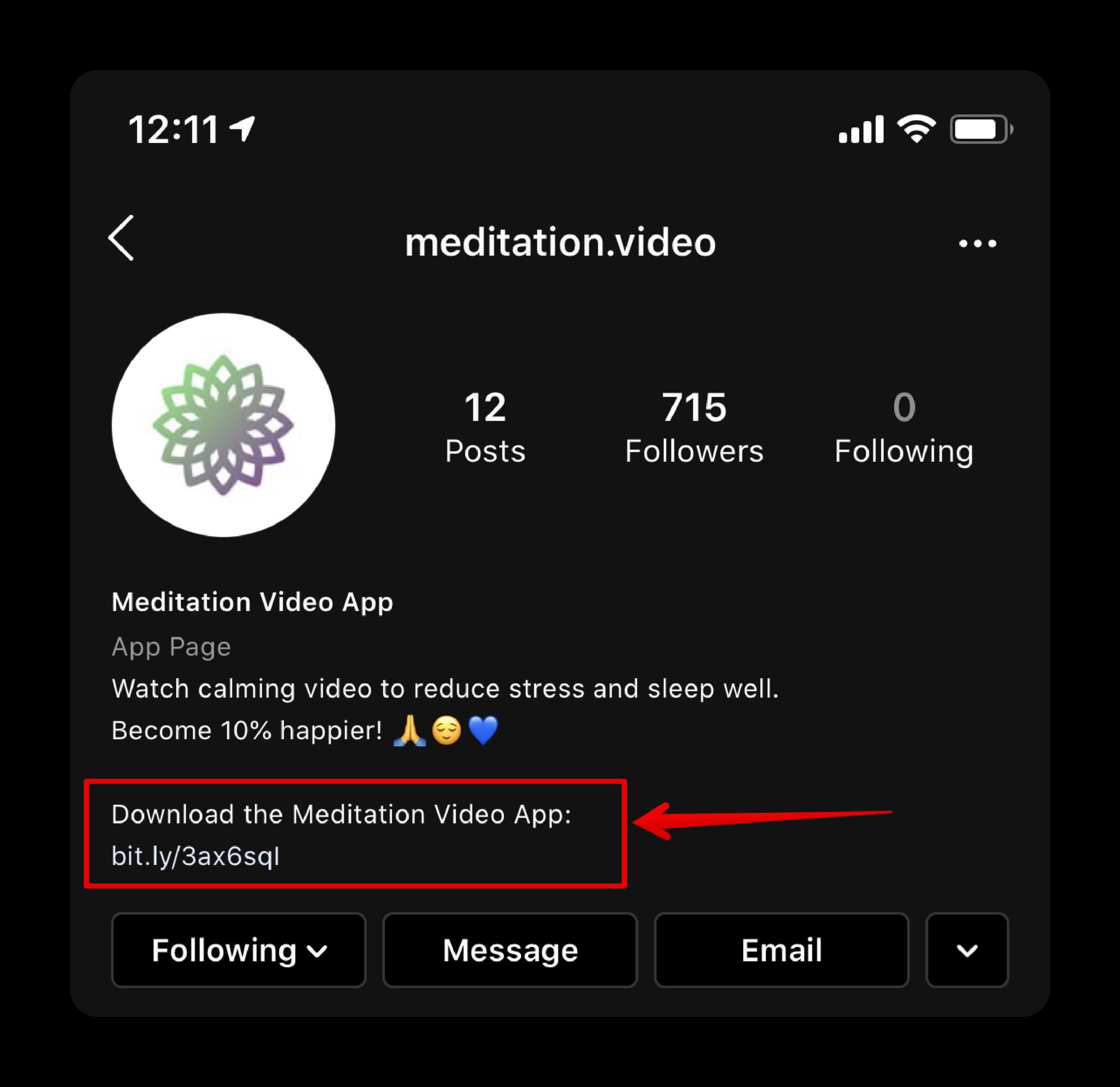 meditation-instagram-account-updated