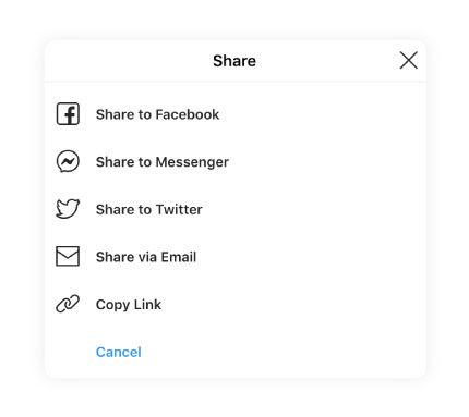 social app share