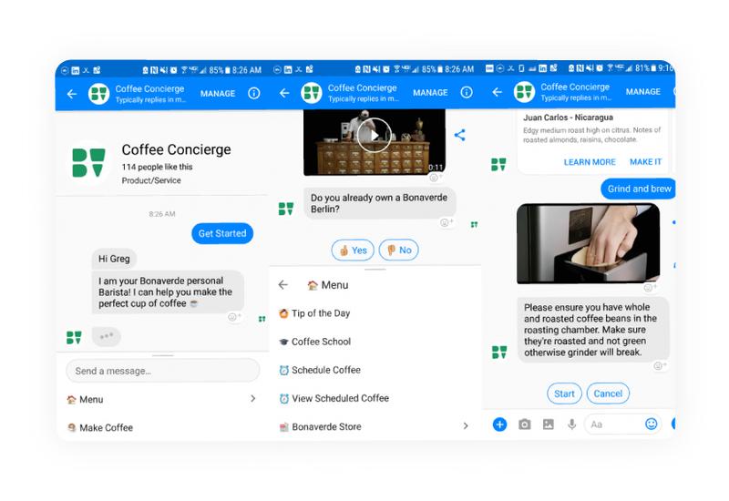 coffee machine chatbot