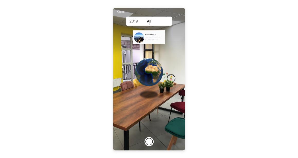 AR mode travel app