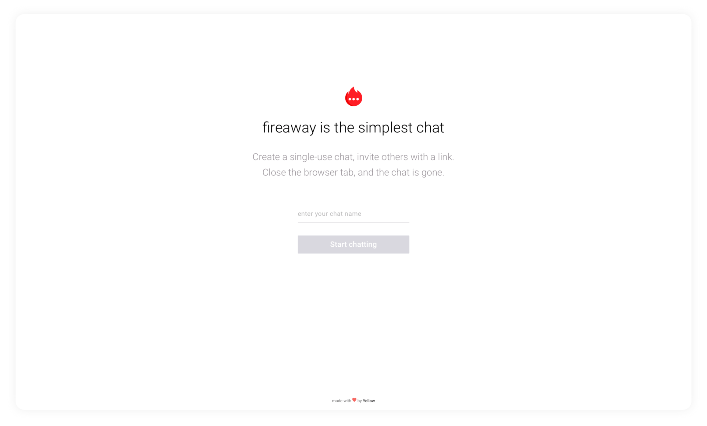 Simple chat without registration