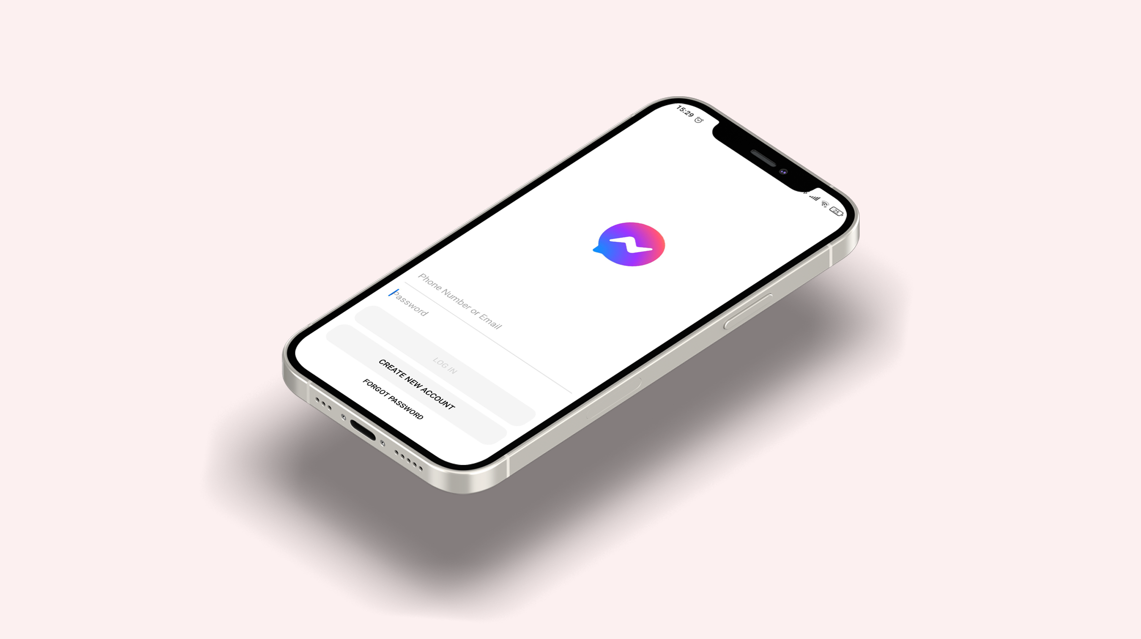 Chat app feature log in