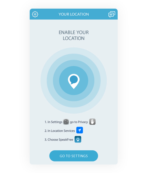 chat location based app