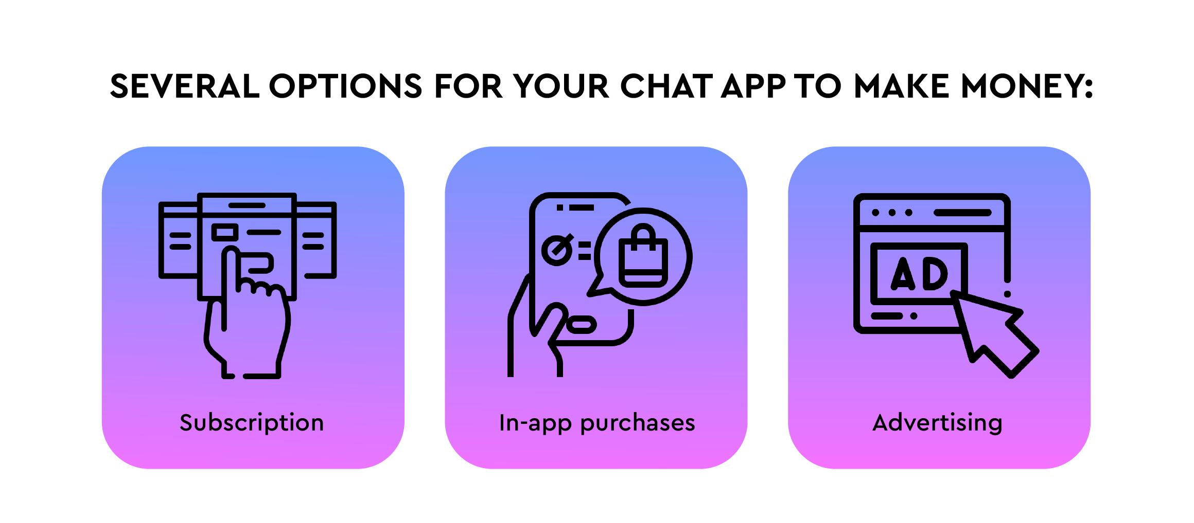 Chat app monetization strategies