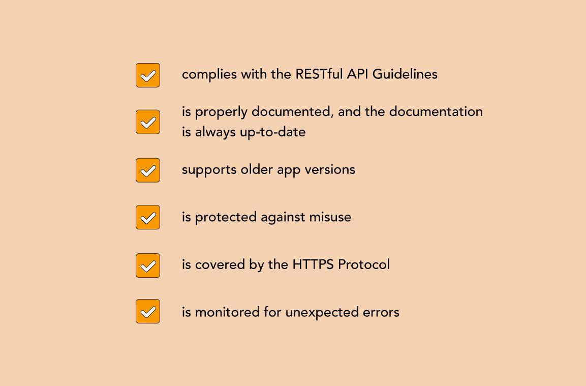 RESTful API checklist guide