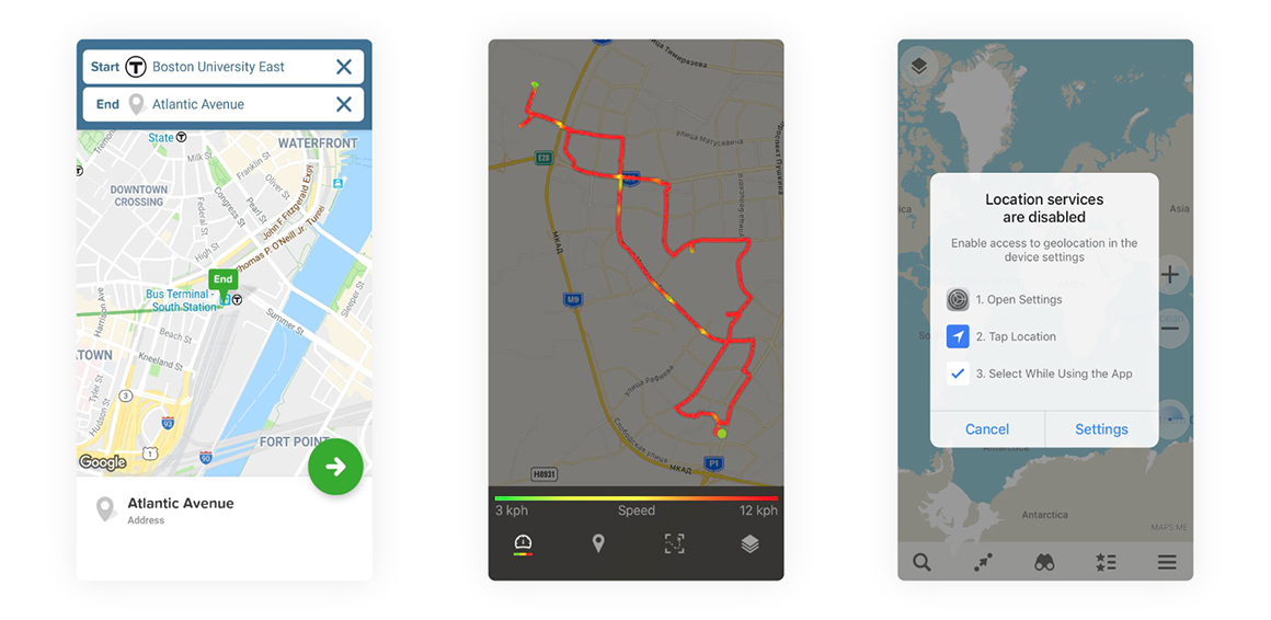fitness location based apps