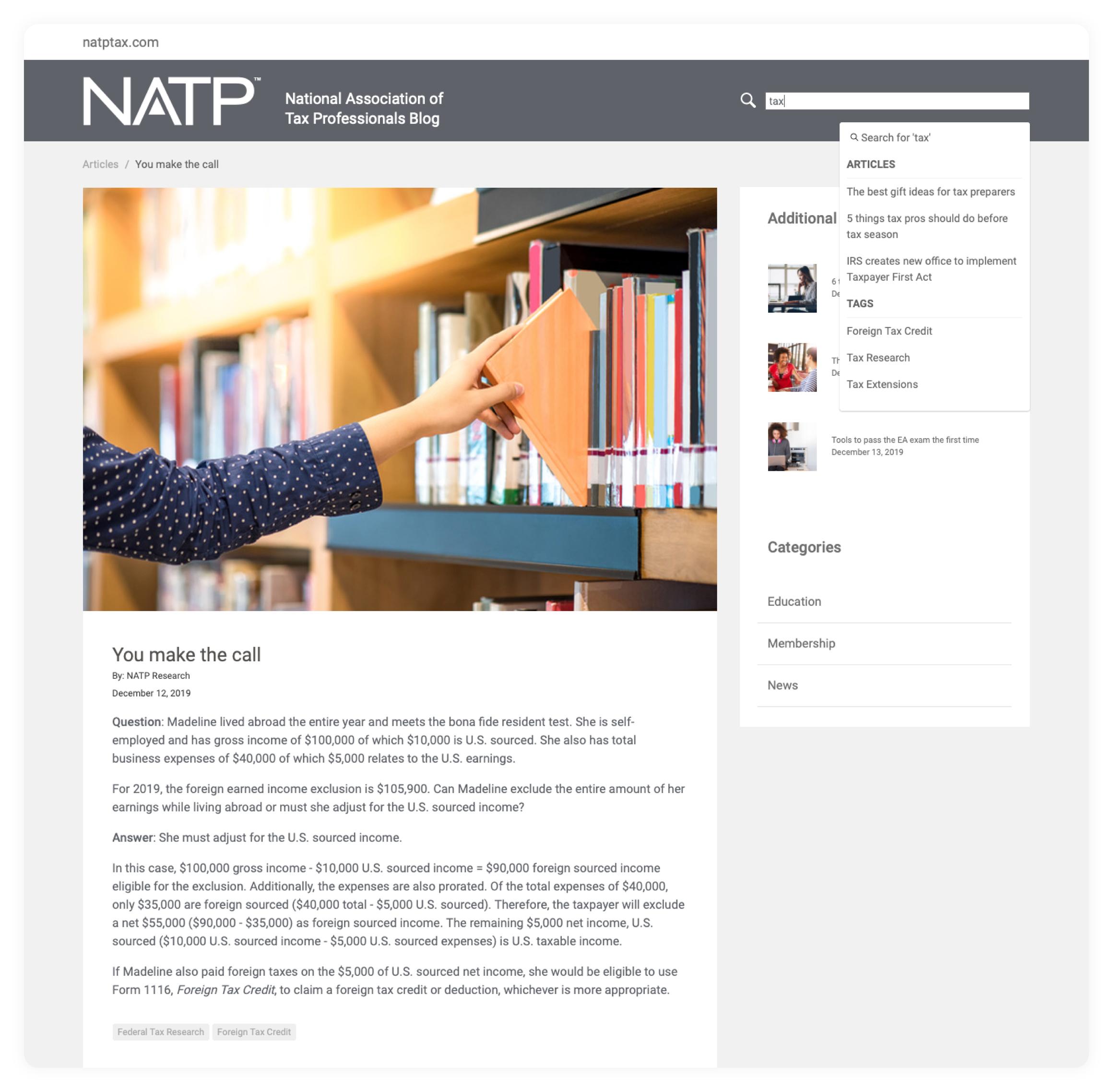 NATP NATP National Association of Tax Professionals