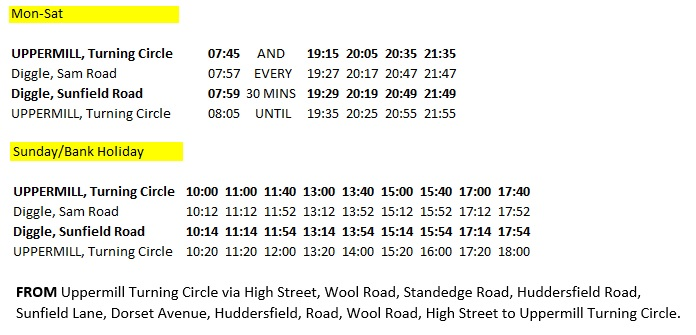 Diggle-shuttle-bus-timetable