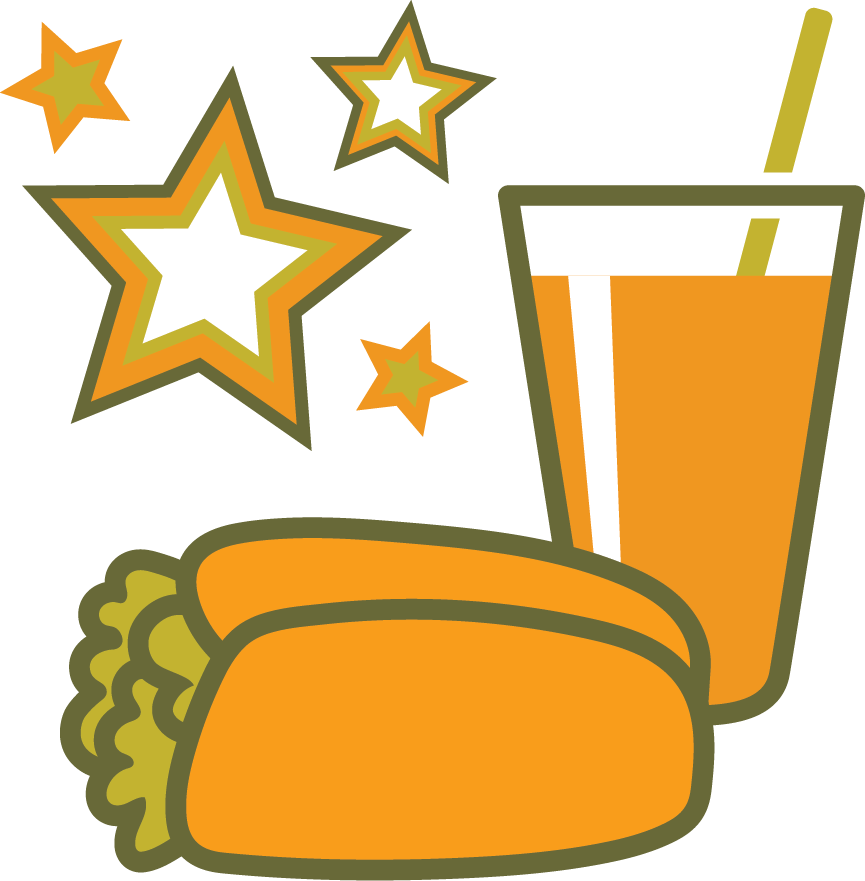 Orange icon for Get Free Food Rewards section.