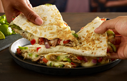 Steak Fajita Quesadilla is grilled to perfection!