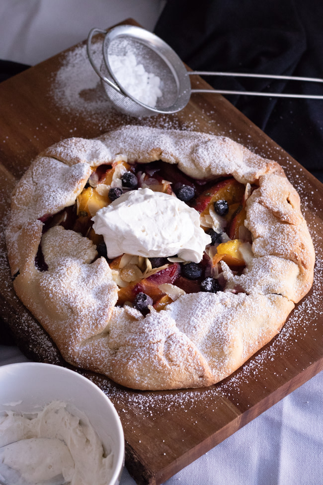peach and bluberries galette-11