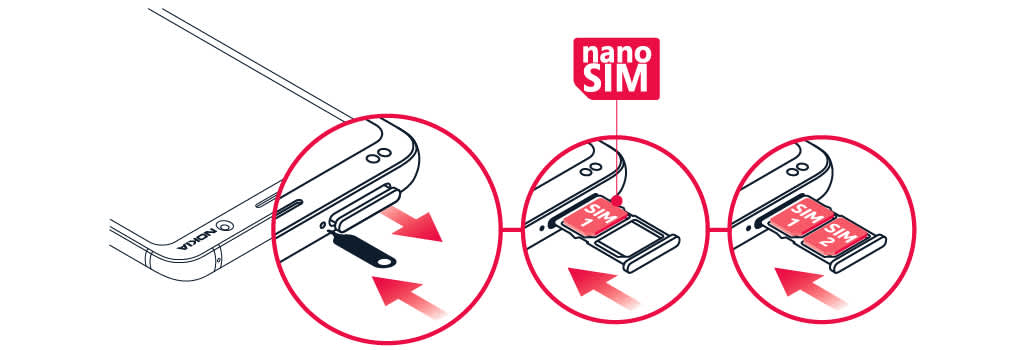 Insert or remove the SIM card