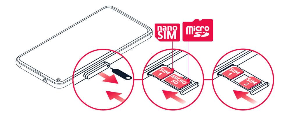 Insert SIM and memory card