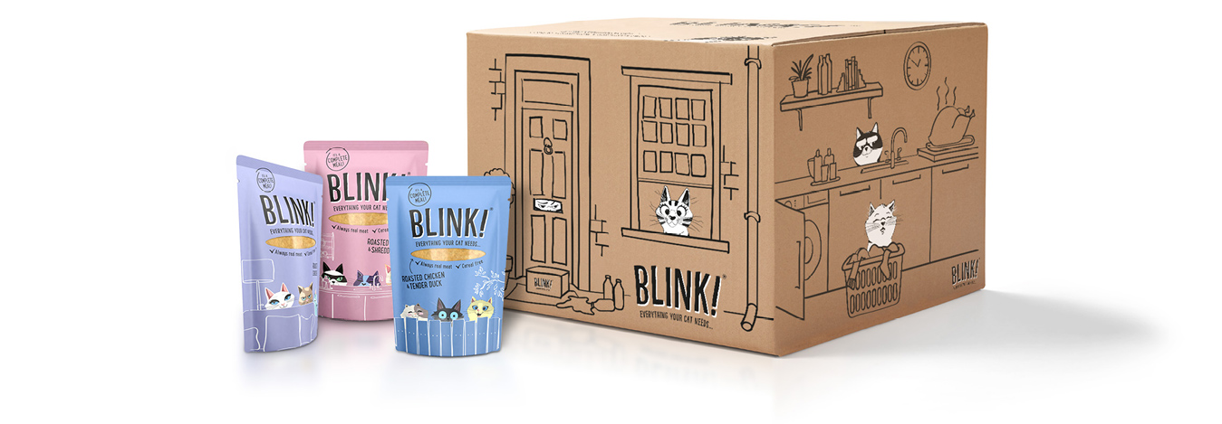 A Blink box and three pouches