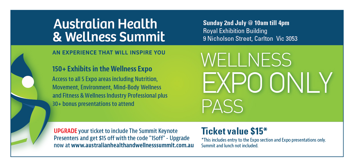 Wellness Summit Expo Melb Pass 2017
