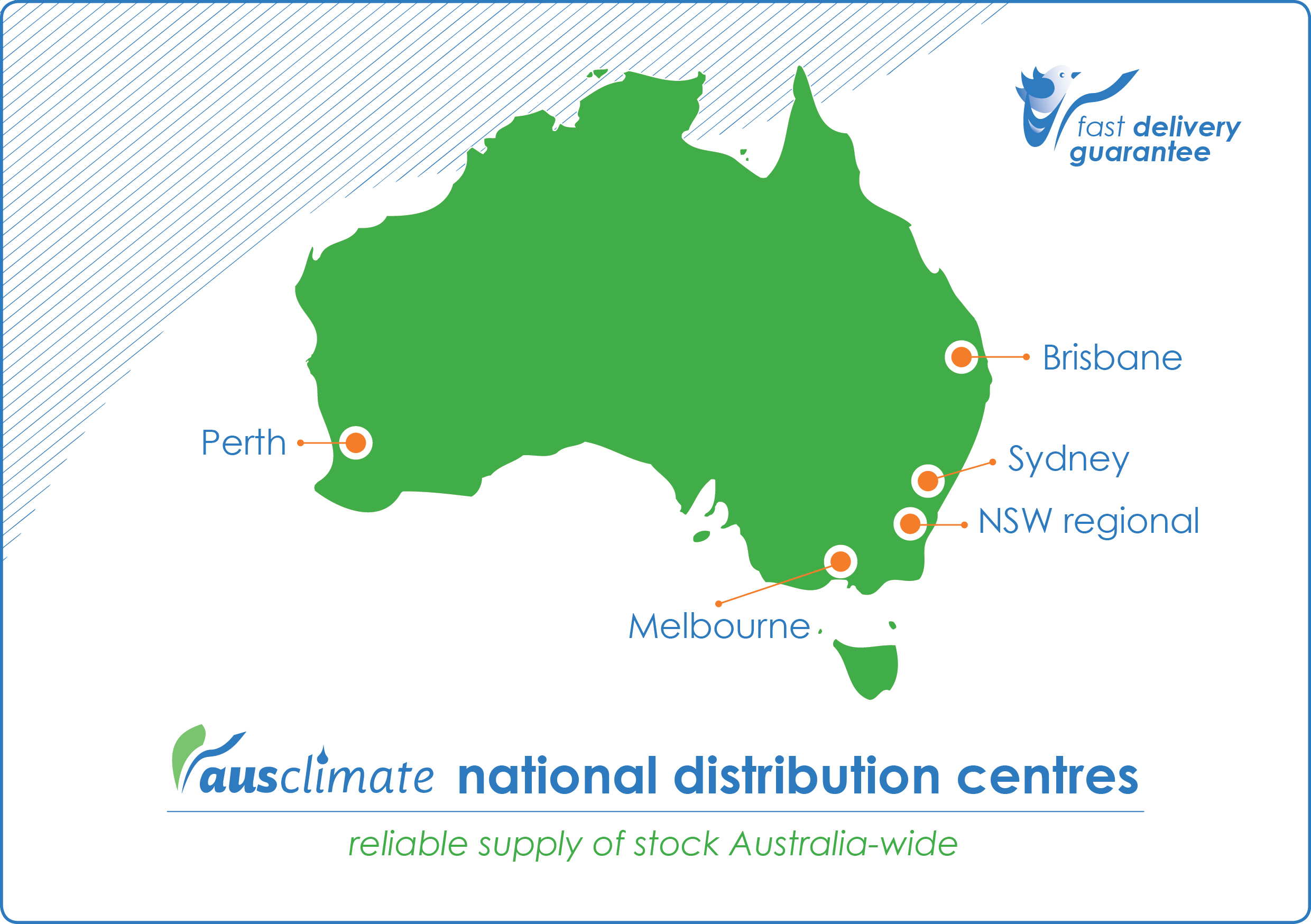 Ausclimate National Distribution Centres