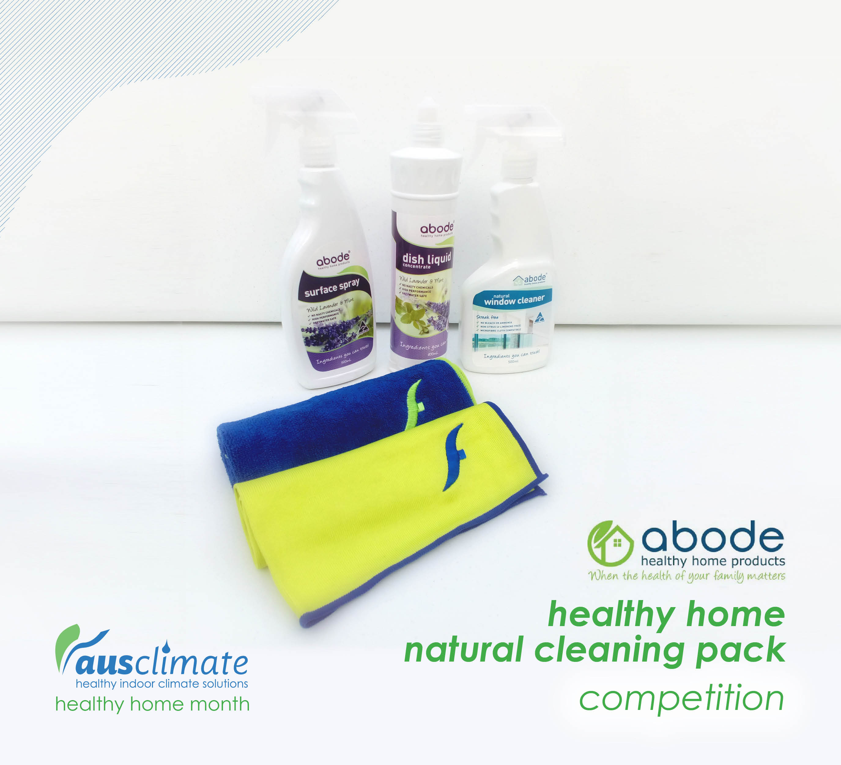 Ausclimate Healthy Home Moment Cleaning Pack Competition