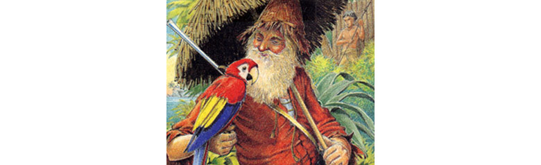 Робинзон с попугаем