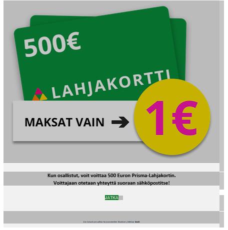"Varo ""Prisman lahjakorttia"" – hinnaksi tulee 78 € / kk"