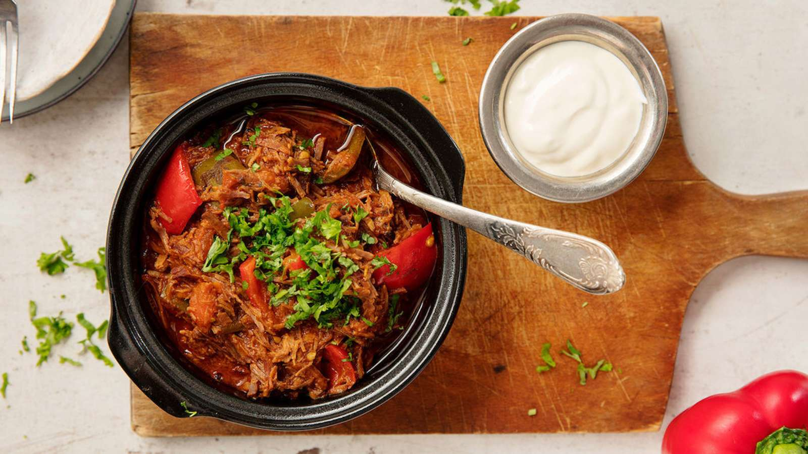 Pulled beef gulassi