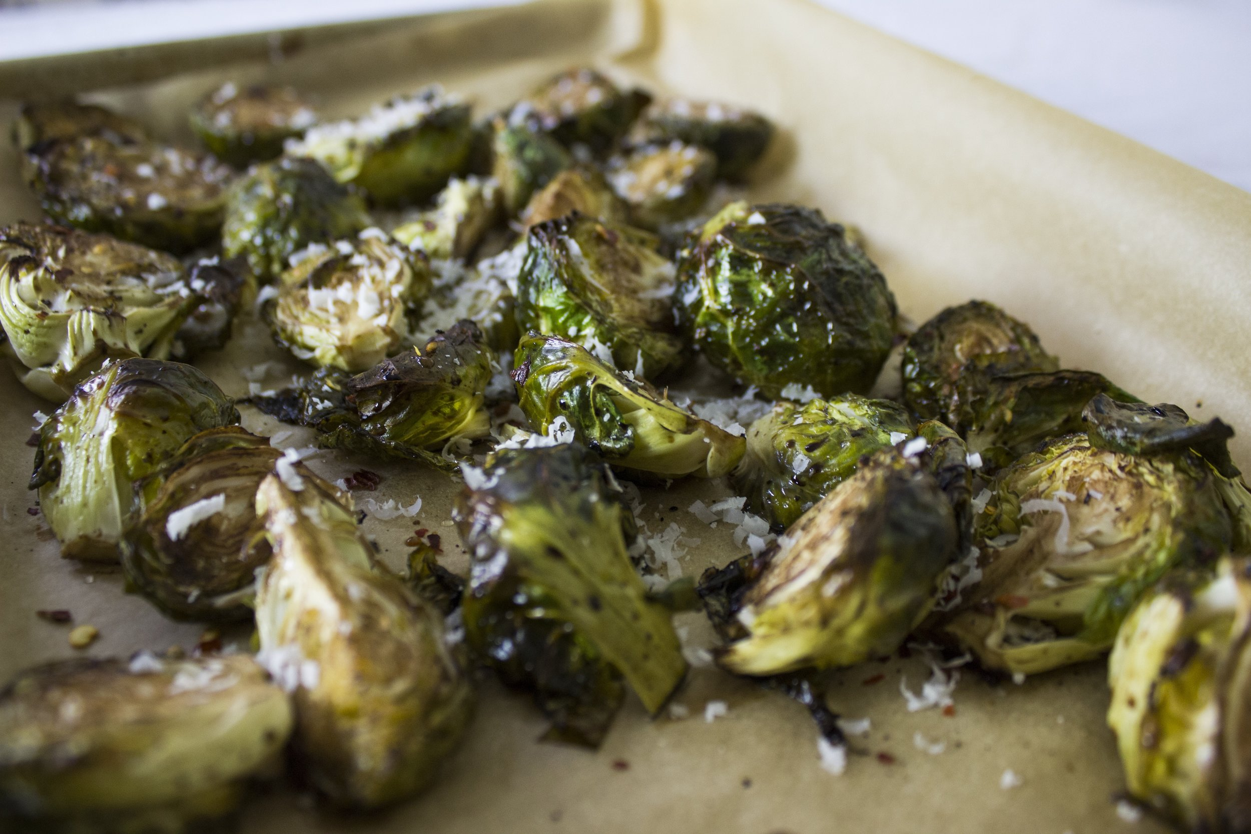 Photo of roasted brussel sprouts