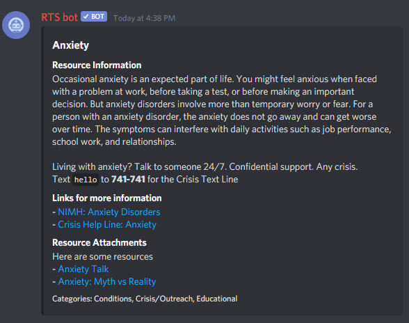Bot Example - Discord - Anxiety