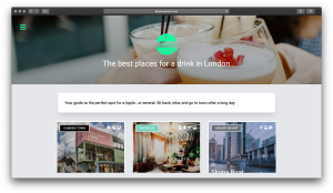 A London List - Best Drinks Page