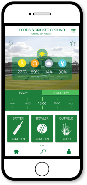 FourCast Sports App - Home Screen