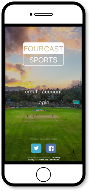 FourCast Sports App - Login Page