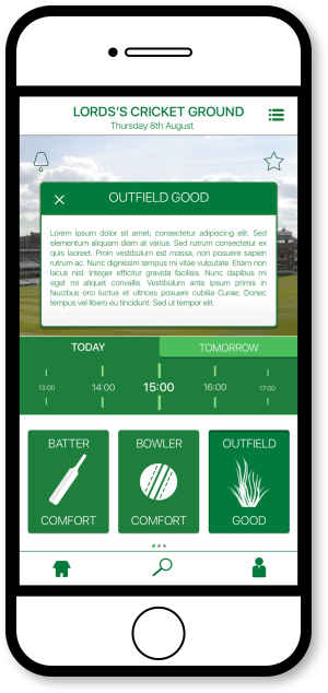 FourCast Sports App - Match Data