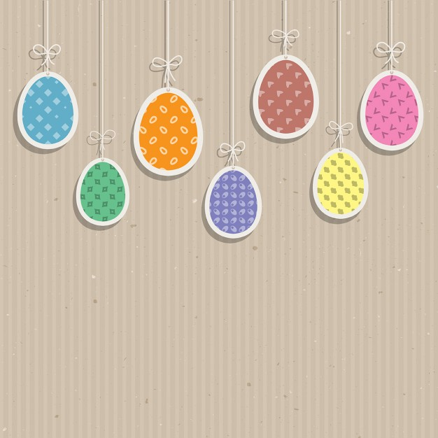 Hanging Easter Eggs Card