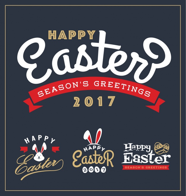Seasonal Happy Easter 2017 Card