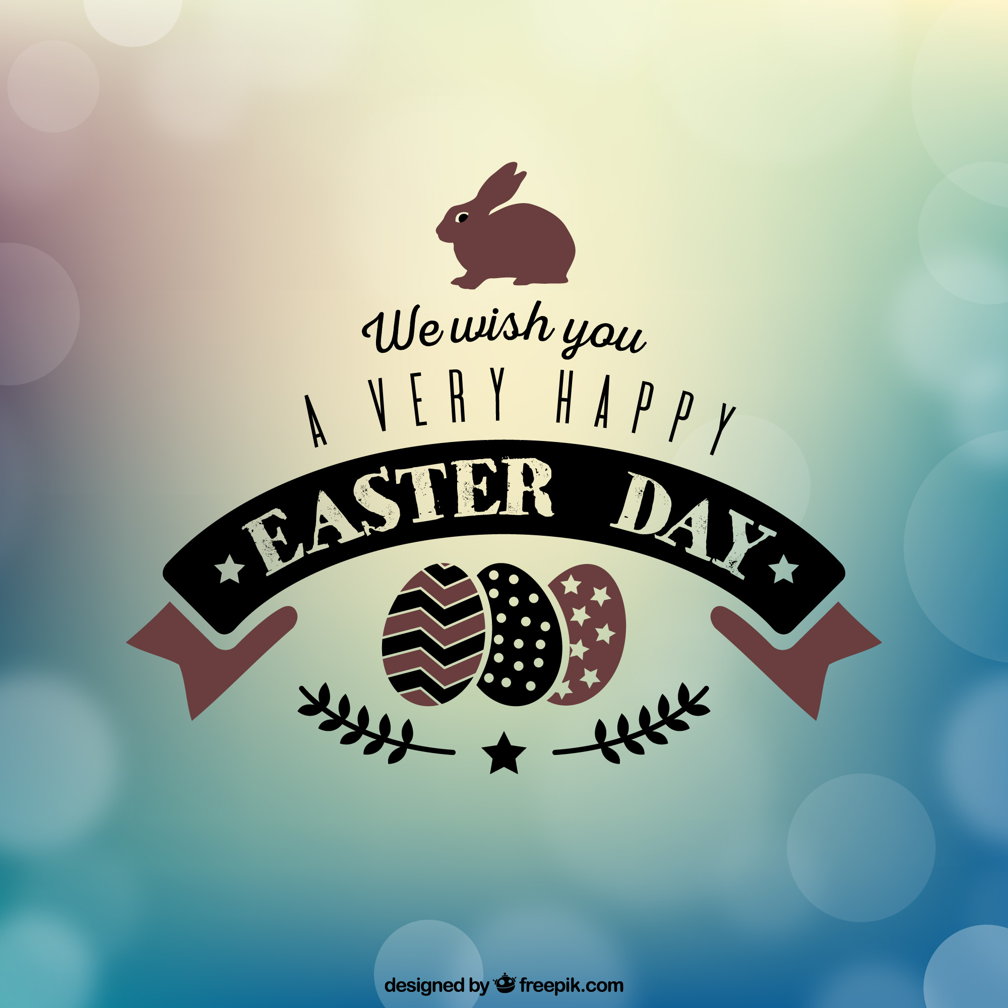 we wish you happy Easter card