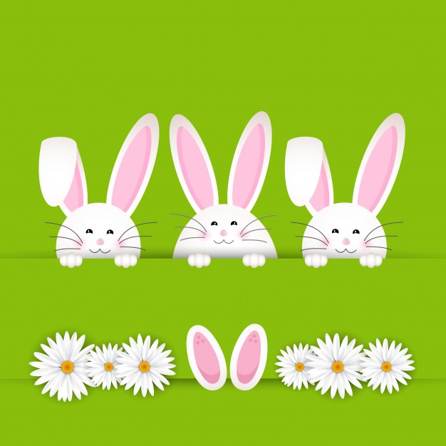 Three Bunnies Easter Card
