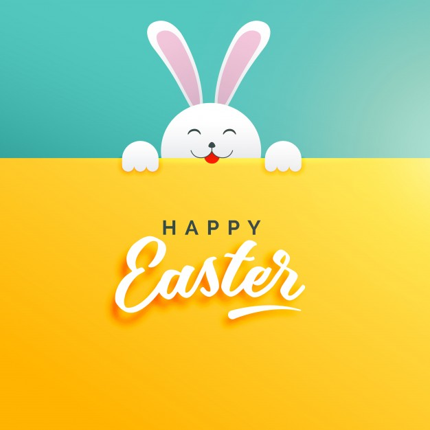 Blue - Yellow Happy Easter Card