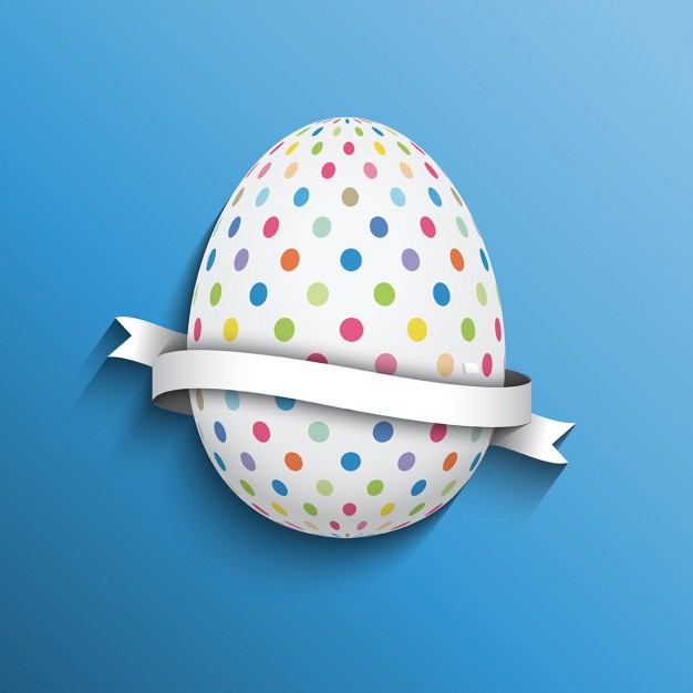 Dotted Egg With Empty Background