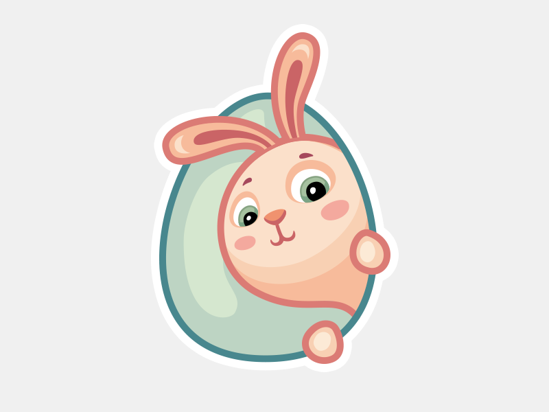 easter rabbit sticker
