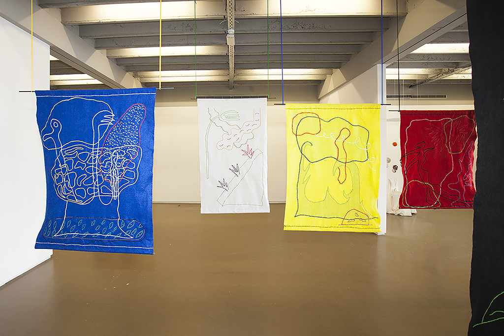 Untitled (flags), felt and embroidery, 180x100cm, Brussels (BE), Spring 2016