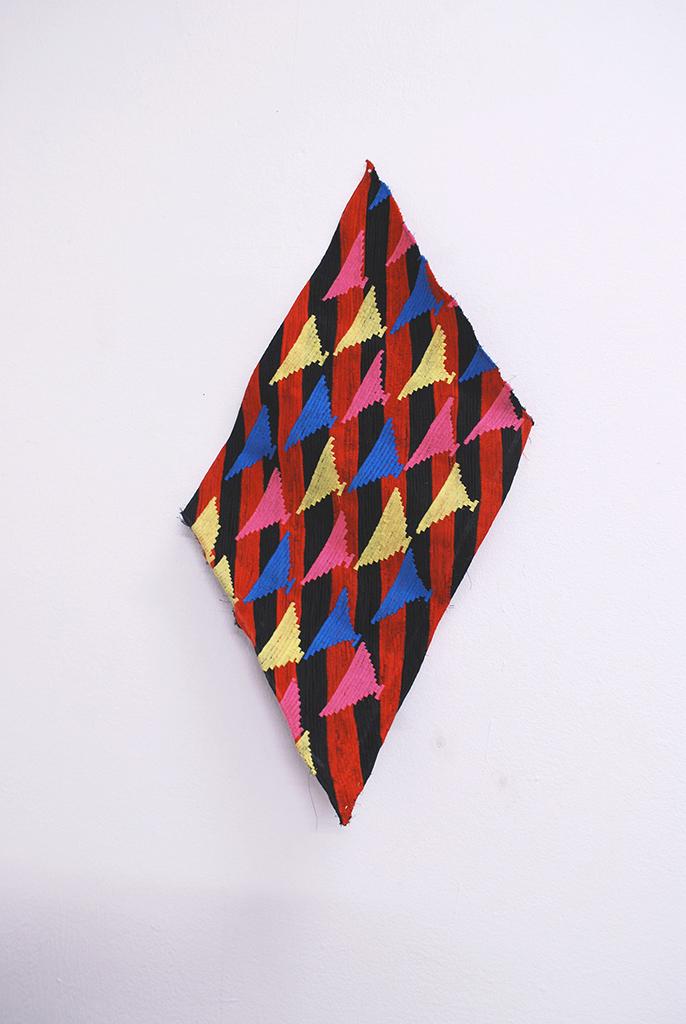 Nénie, fabrics, embroidery, 30x50cm, Vevey (CH), 2013