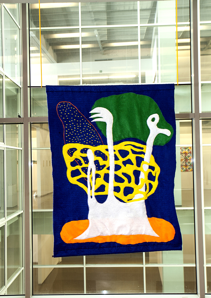 Untitled (flags), felt and embroidery, 150x100cm, Brussels (BE), Spring 2016