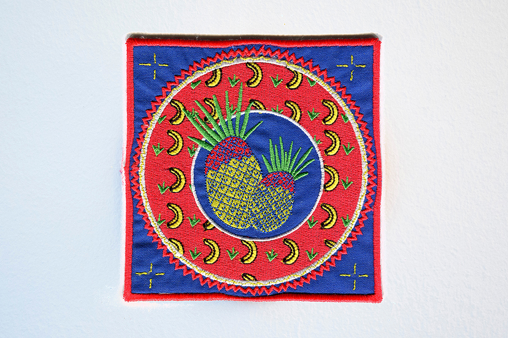 Le Cogito-Ananas (patch), sewing, 15x15cm, Lausanne (CH), Autumn 2014