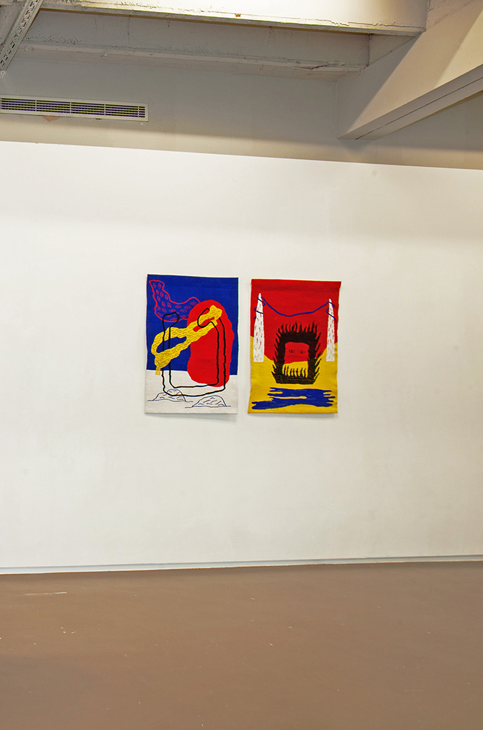 Nous y voici & nous y voilà (diptych), tapestry, 70x100 each, Brussels (BE), Spring 2016