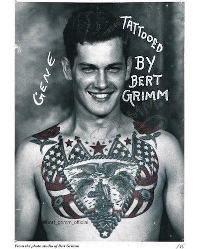 Une planche de tatouage de Bert Grimm
